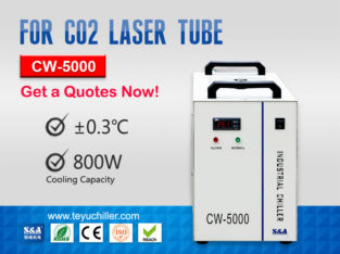 CW5000 Water Chiller for CO2 Laser Cutting Machine