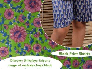 Boys Block Print Shorts
