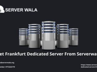 Get Frankfurt Dedicated Server From Serverwala